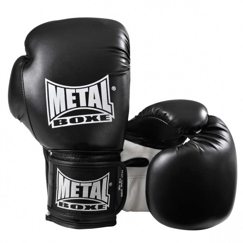 gants-de-boxe-entrainement-sup-noir-metal-boxe