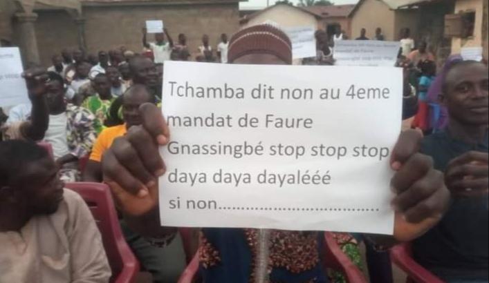 Togo: la réunion du Pnp dispersée à Kpalo-kpalo, celle de Tchamba a eu lieu hier